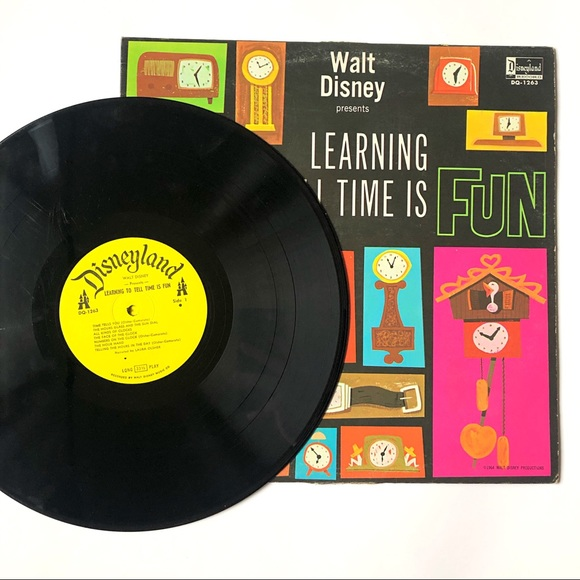 Walt Disney Learning To Tell Time Is Fun Record